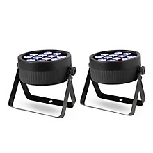 Proline Pair of ThinTri64 PAR Wash Lights
