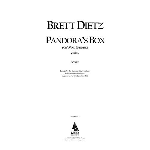 Lauren Keiser Music Publishing Pandora's Box (for Wind Ensemble) LKM Music Series by Brett William Dietz