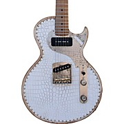 Paoletti Richard Fortus Jr Signature White Leather Roasted Maple Neck Electric Guitar White