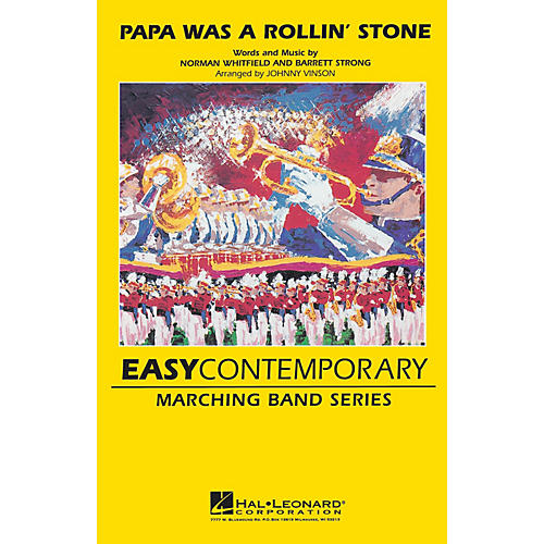 Hal Leonard Papa Was a Rolling Stone Marching Band Level 2-3 Arranged by Johnnie Vinson