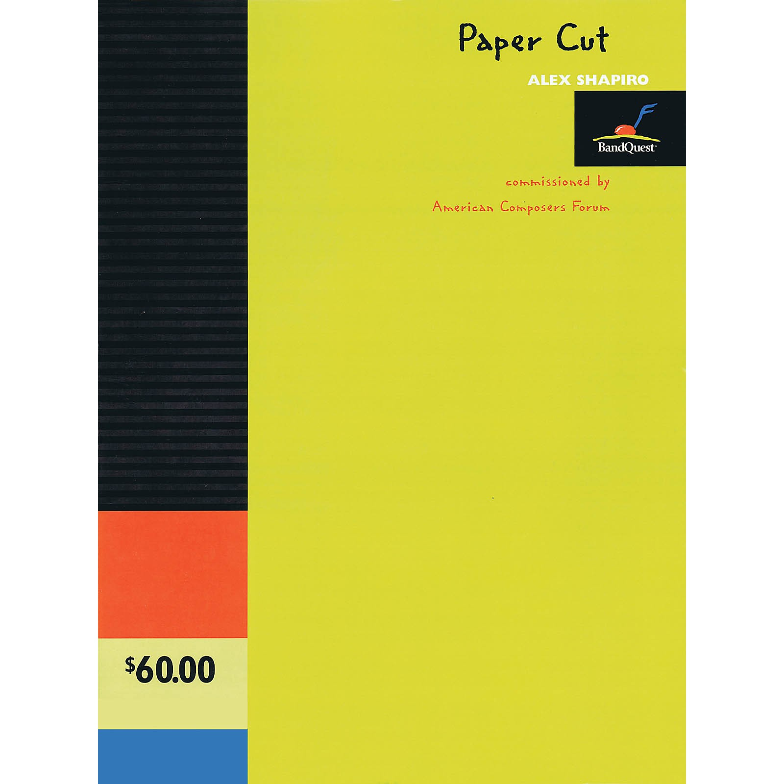American Composers Forum Paper Cut (BandQuest Series Grade 3) Concert Band Level 3 Composed by Alex Shapiro