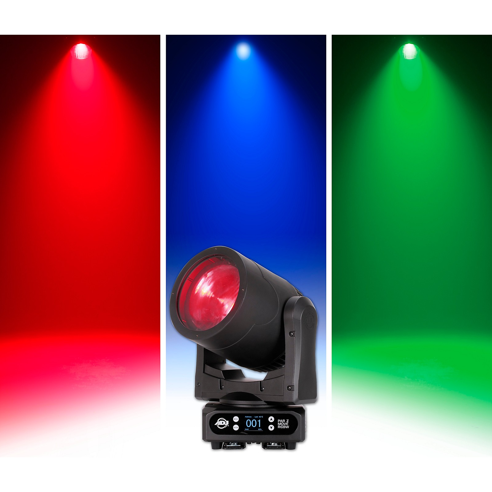 American DJ Par Z Move RGBW LED Moving-Head Wash Light