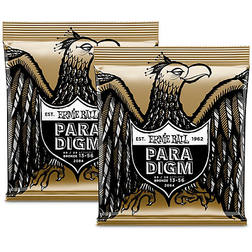 Ernie Ball Paradigm 80/20 Acoustic Guitar Strings Medium (2-Pack)