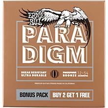 Ernie Ball Paradigm Medium Light Phosphor Bronze Acoustic Guitar Strings 3-Pack