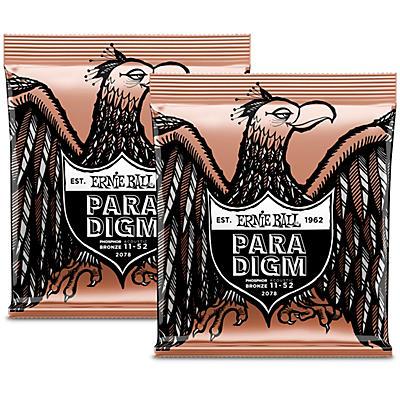 Ernie Ball Paradigm Phosphor Bronze Acoustic Guitar Strings Light Bundle (2-Pack)