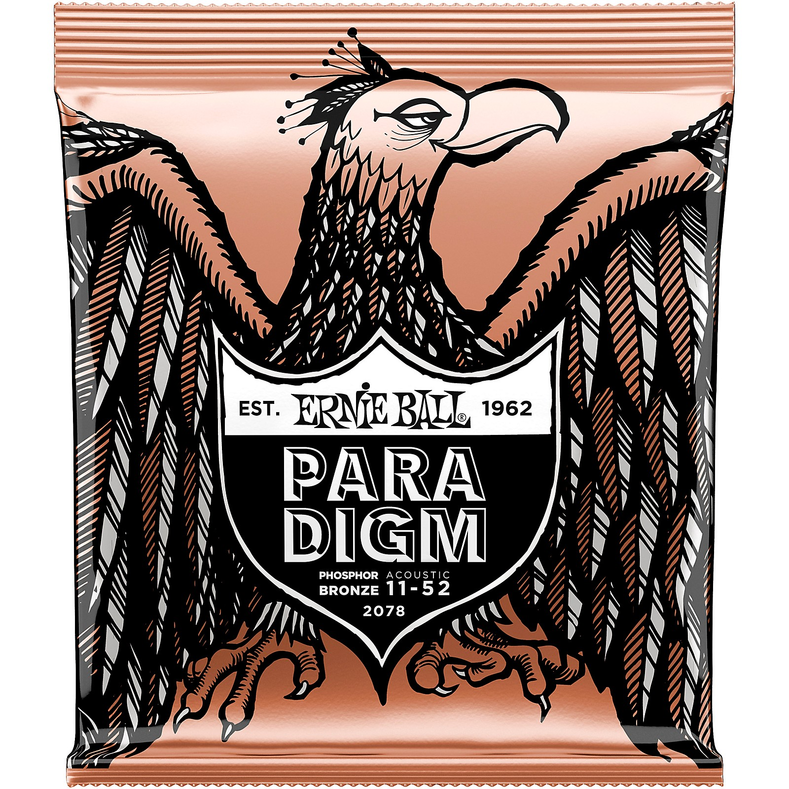 Ernie Ball Paradigm Phosphor Bronze Acoustic Guitar Strings Light