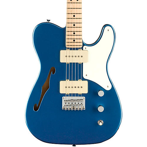 Squier Paranormal Series Cabronita Telecaster Thinline Electric Guitar with Maple Fingerboard Lake Placid Blue
