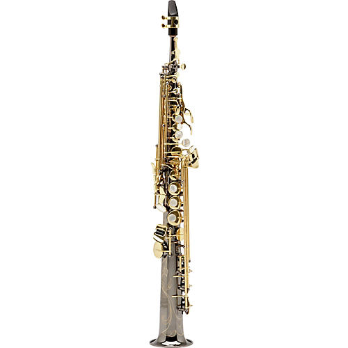 Allora Paris Series Professional Straight Soprano Saxophone with 2 Necks
