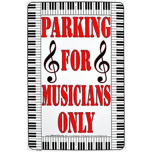 AIM Parking For Musicians Only Metal Sign