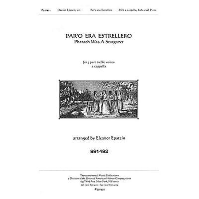 Transcontinental Music Par'o Era Estrellero SSA composed by Eleanor Epstein