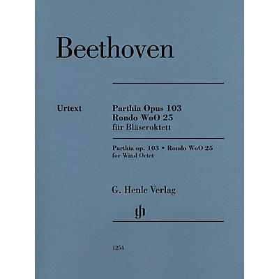 G. Henle Verlag Parthia Op. 103 - Rondo WoO 25 Henle Music Folios Series Softcover  by Ludwig van Beethoven