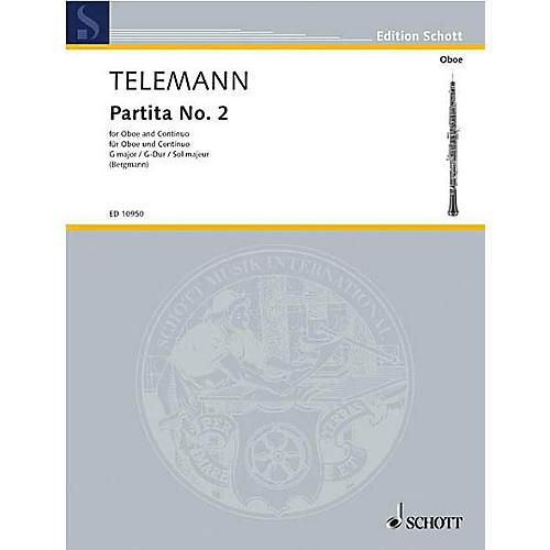 Schott Partita No 2 in G Maj (Oboe with Piano Accompaniment) Schott Series