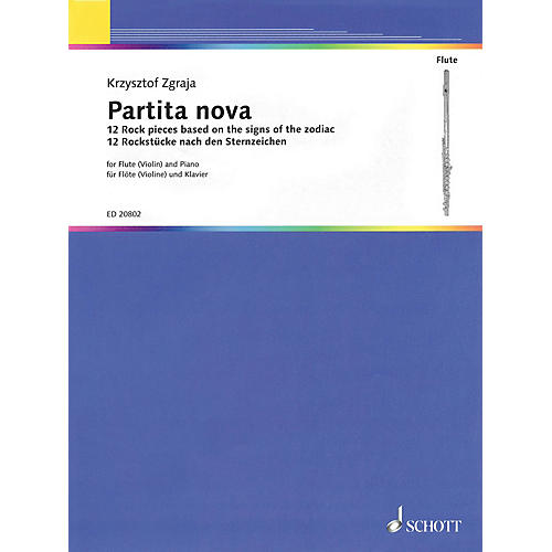Schott Partita Nova (12 Rock Pieces Based on the Signs of the Zodiac Flute and Piano) Woodwind Series