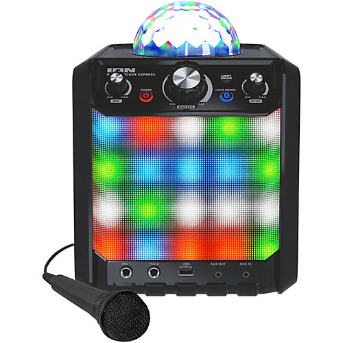 ION Party Rocker Express Bluetooth Speaker with Light Show and Microphone