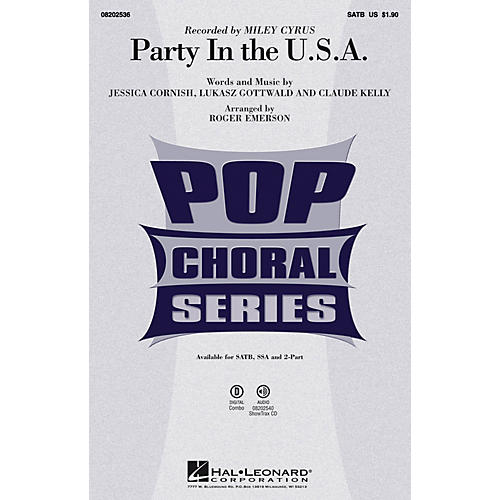 Hal Leonard Party in the U.S.A. ShowTrax CD by Miley Cyrus Arranged by Roger Emerson