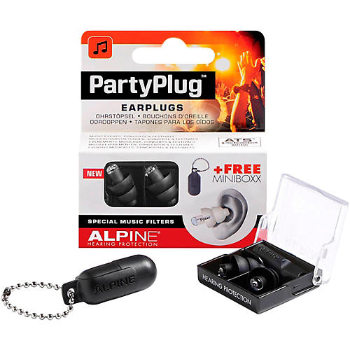 Alpine Hearing Protection PartyPlug Earplugs Black