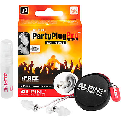 Alpine Hearing Protection PartyPlug Pro Natural Earplugs