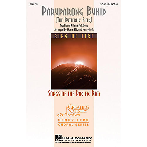 Hal Leonard Paruparong Bukid (The Butterfly Field) 3 Part Treble arranged by Henry Leck