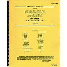 G. Schirmer Passacaglia and Fugue in C Minor (Score and Parts) Concert Band Level 4-5 by Johann Sebastian Bach
