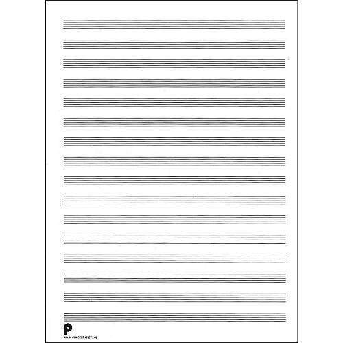 Music Sales Passantino Manuscript #16 16 Stave Concert, 96 Pages, 24 Dbl Fld Sheets