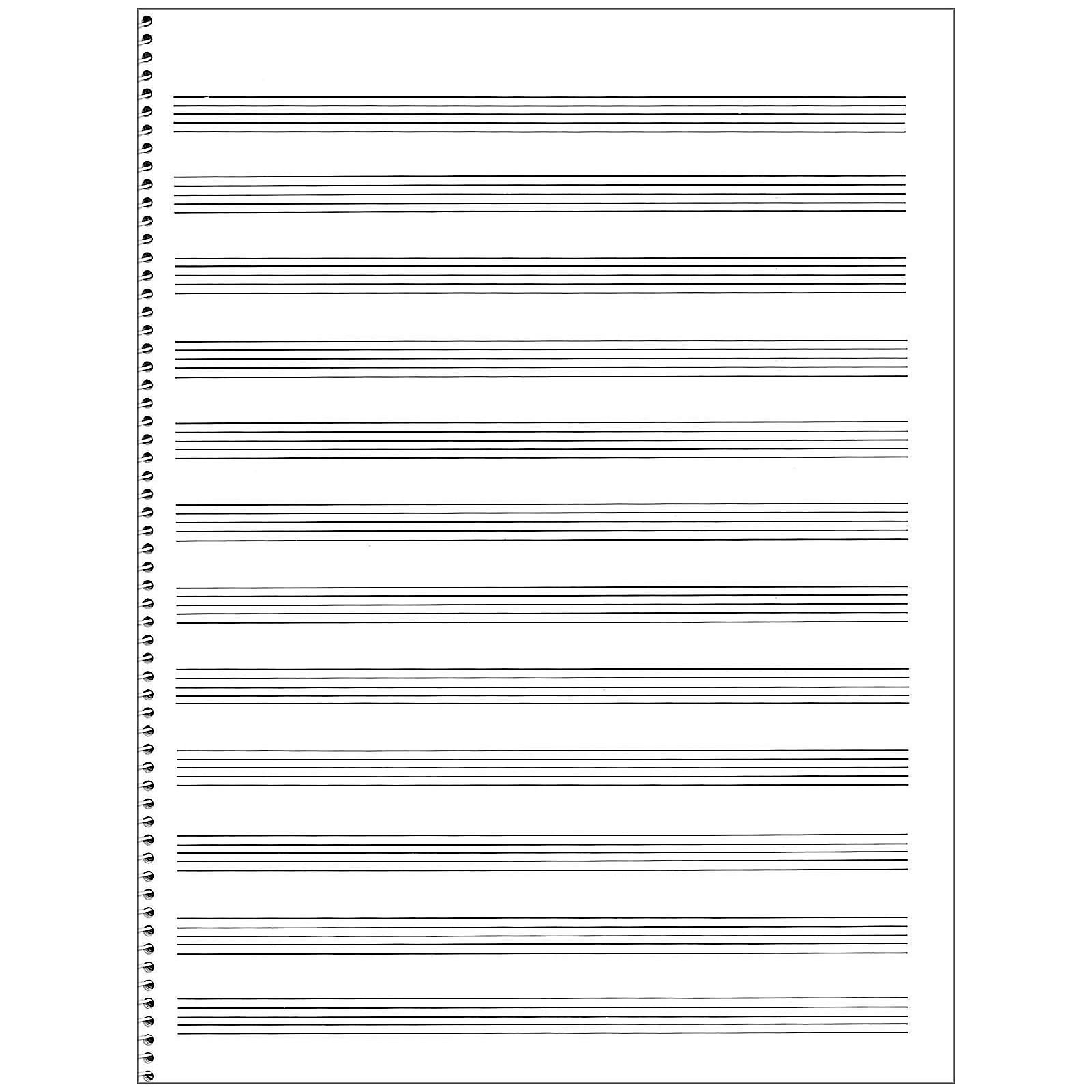 Music Sales Passantino Manuscript Paper #65 12 Stave, 32 Page, Spiral, 9X12