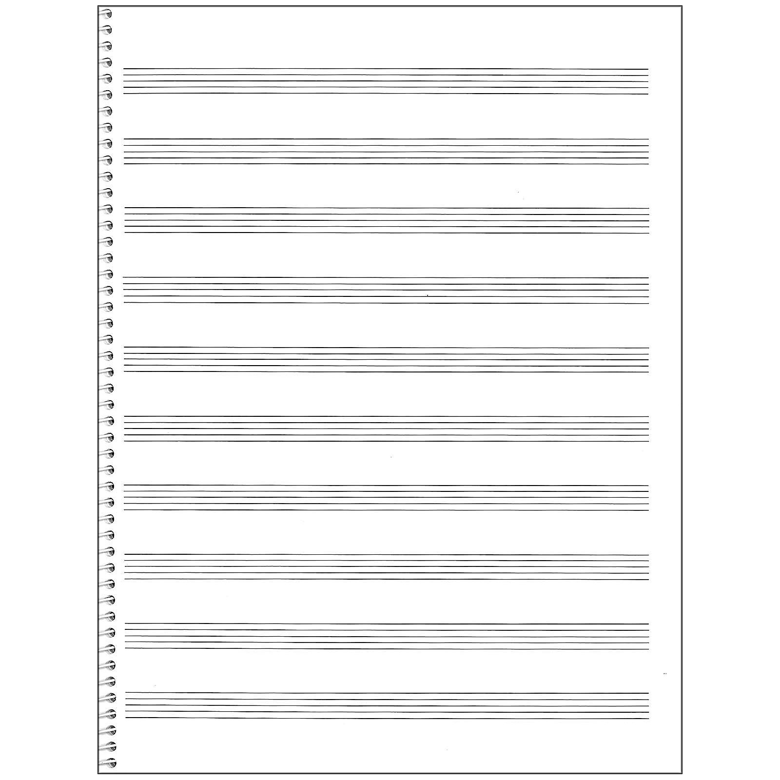 Music Sales Passantino Spiral Book #74 64 Pages, 10 Stave, 9 X 12