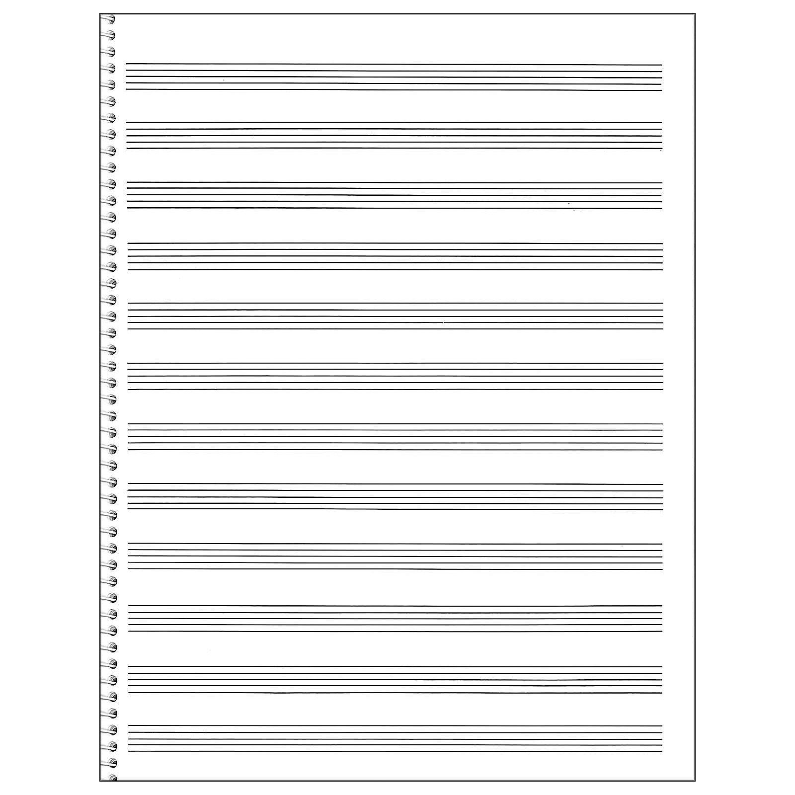 Music Sales Passantino Spiral Book #85 96 Pages, 12 Stave, 9 X 12