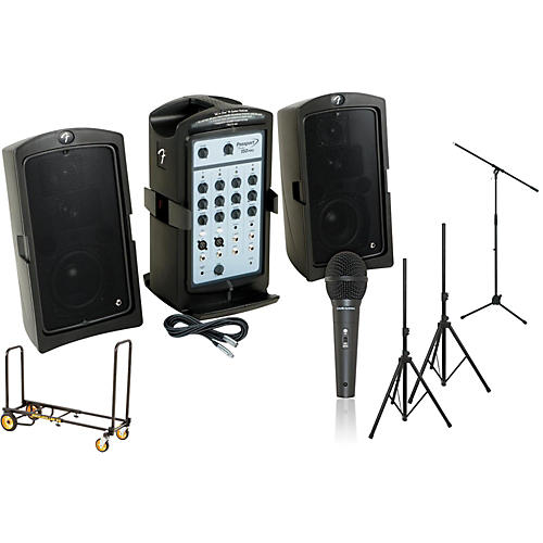 Fender Passport 150 Pro PA Package with Rock N Roller Cart