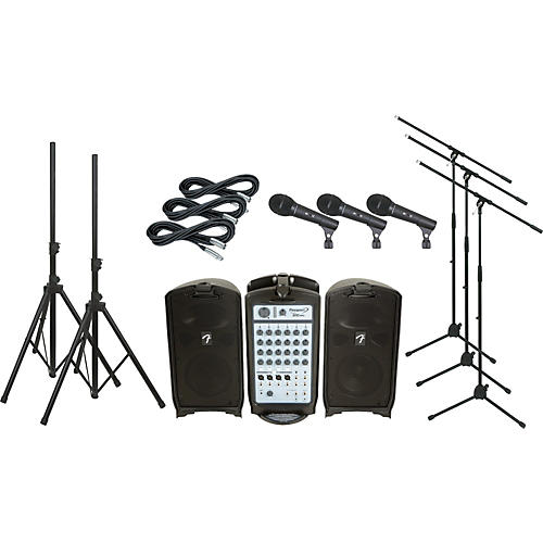 Fender Passport 300 PRO PA Package with 3 Mics