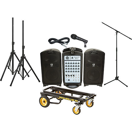 Fender Passport 300 Pro PA Package with Rock N Roller Cart