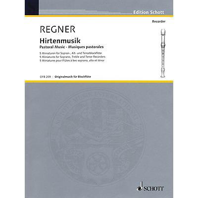 Schott Pastoral Music (5 Miniatures) Woodwind Ensemble Series by Hermann Regner