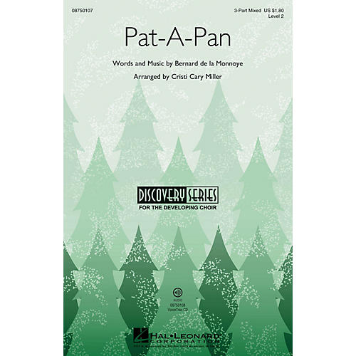 Hal Leonard Pat-a-Pan (Discovery Level 2) 3-Part Mixed arranged by Cristi Cary Miller