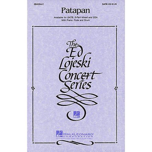 Hal Leonard Patapan SATB arranged by Ed Lojeski
