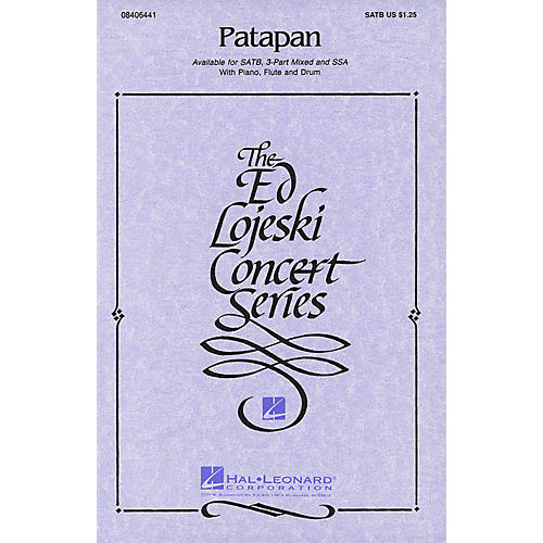 Hal Leonard Patapan SSA Arranged by Ed Lojeski