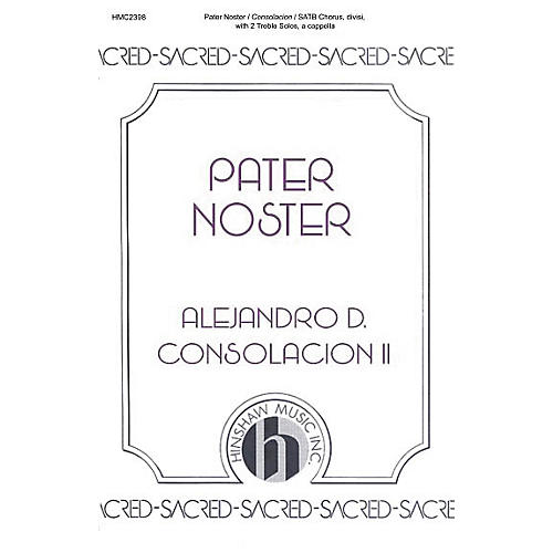 Hinshaw Music Pater Noster SSAATTBB composed by Alejandro Consolacion