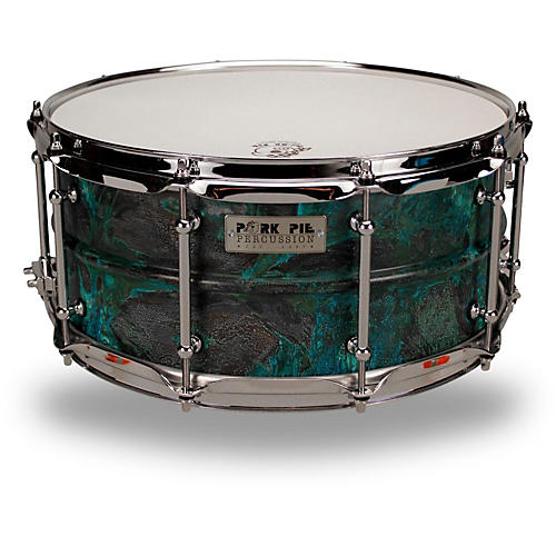 Pork Pie Patina Brass snare drum 14 x 6.5 in.