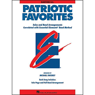 Hal Leonard Patriotic Favorites Baritone B.C.