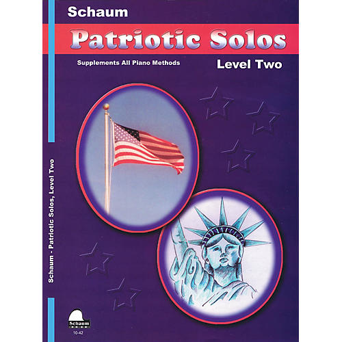 SCHAUM Patriotic Solos (Level 2 Upper Elem) Educational Piano Book