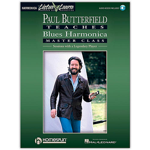 Hal Leonard Paul Butterfield Teaches Blues Harmonica Master Class (Book/Online Audio)