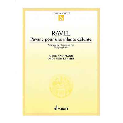 Schott Pavane pour une infante defunte (Pavane for a Dead Princess for Oboe and Piano) Woodwind Solo Series