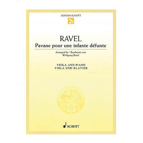 Schott Pavane pour une infante défunte (for Viola and Piano) String Solo Series