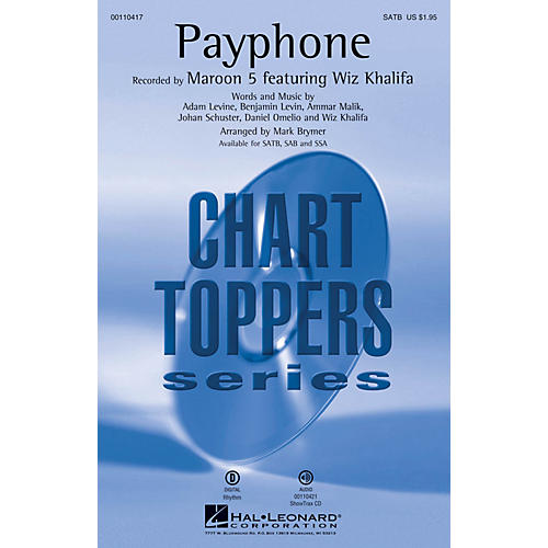 Hal Leonard Payphone (ShowTrax CD) ShowTrax CD by Maroon 5 Arranged by Mark Brymer