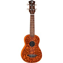 Luna Guitars Peace Love Soprano Ukulele