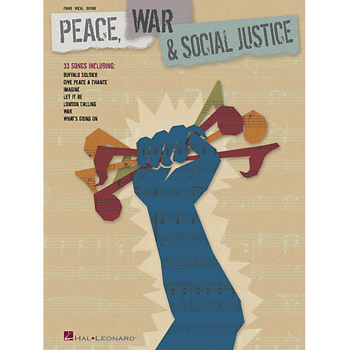 Hal Leonard Peace, War and Social Justice Piano/Vocal/Guitar Songbook