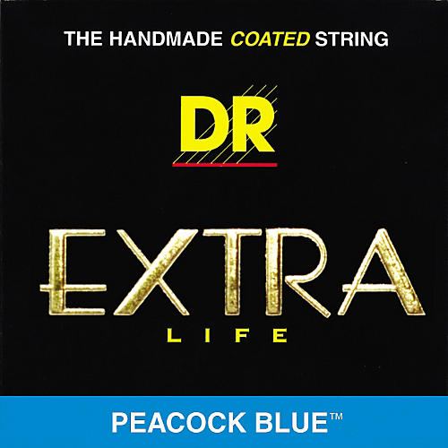 DR Strings Peacock Blues Extra Light Acoustic Guitar Strings