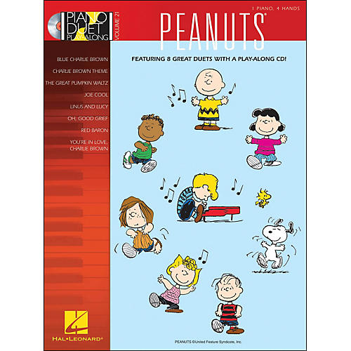 Hal Leonard Peanuts - Piano Duet Play-Along Volume 21 (CD/Pkg)