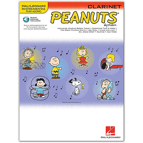 Hal Leonard Peanuts for Clarinet - Instrumental Play-Along Book/Online Audio