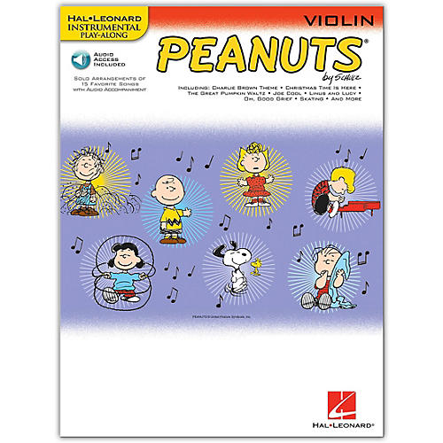 Hal Leonard Peanuts for Violin - Instrumental Play-Along Book/Online Audio