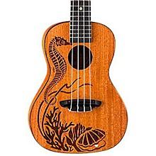 Luna Guitars Pearl Solid Mahogany Concert Ukulele