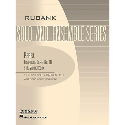 Rubank Publications Pearl (Trombone (Baritone B.C.) Solo with Piano - Grade 3) Rubank Solo/Ensemble Sheet Series